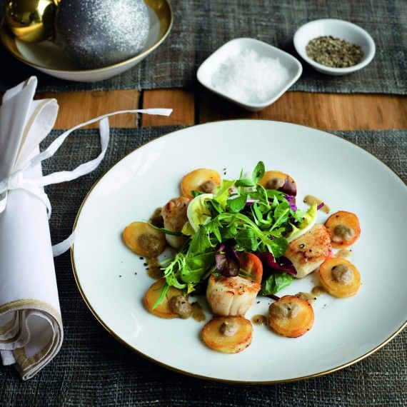 109 best gordon ramsay images on pinterest kitchens gordon ramsay gordon ramsay pan fried scallops with caper raisin and olive vinaigrette fandeluxe Gallery