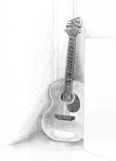pencil drawings | Fossforous: Tuesday Things: Guitar