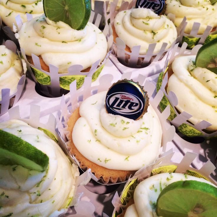 Miller lite and lime cupcakes - Must make for Matt's birthday!