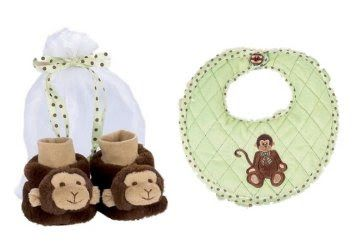 Sepatu Bayi Laki Laki - Bearington Bears Giggles Monyet Bayi Bib dan Booties Set | Pusat Sepatu Bayi Terbesar dan Terlengkap Se indonesia