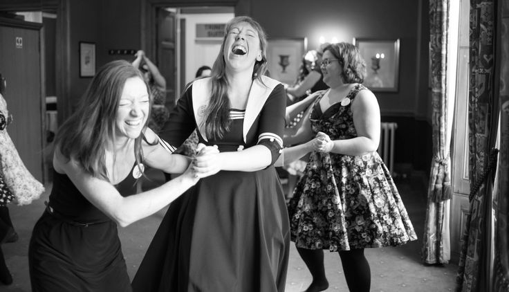 Fabulous jive dance lesson in full swing perfect hen party fun #cambridgehenparty #vintagehenparty #henparty