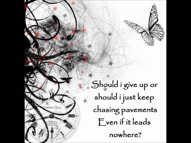 ........ if I knew my place Adele - Chasing Pavements Lyrics