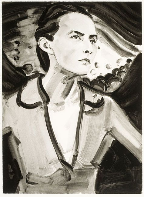 Elizabeth Peyton, Georgia (After Stieglitz, 1918), 2006. Direct gravure etching with aquatint on Hahnemuhle Copperplate Etching paper, 30 x ...