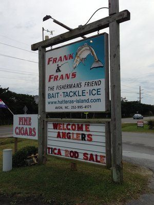 Frank & Fran's Tackle Shop: Avon NC