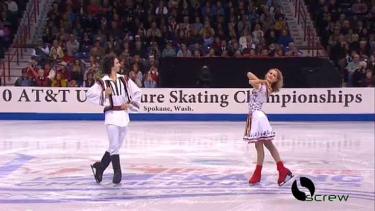 Tradițiile din spațiul românesc au ajuns în lumea mare! Doi canadieni, acum patru ani au dansat pe gheață la o competiție internațională de patinaj artistic un program după melodii românești, purtând costume tradiționale.