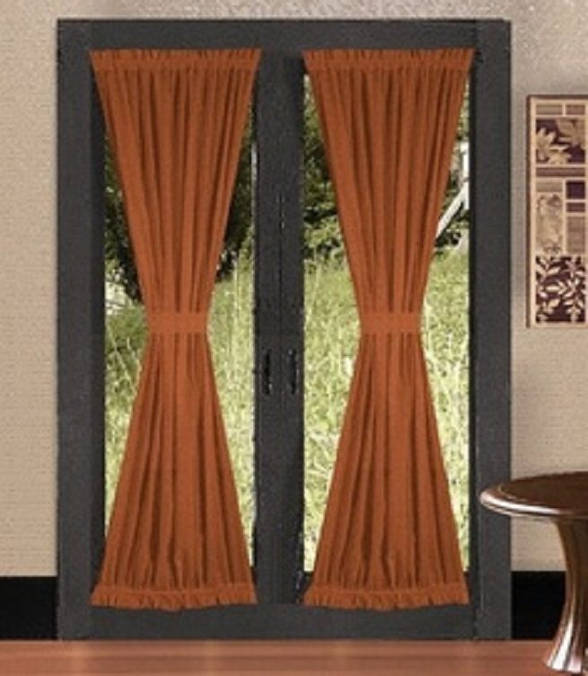 14 best images about french door treatments on pinterest for Curtains for french doors ideas