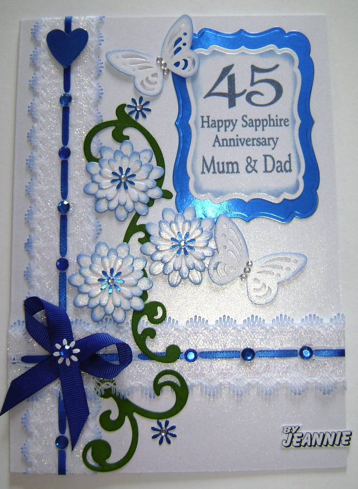 Years sapphire anniversary cute cards pinterest