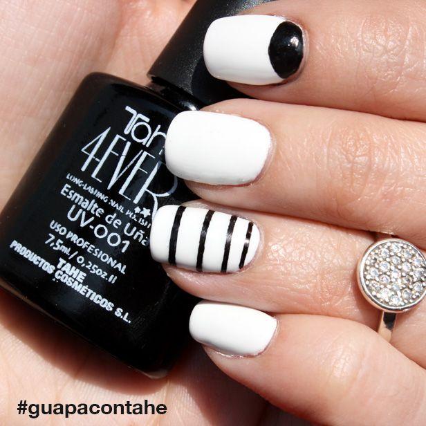 BLACK & WHITE ¡Añade pequeños detalles de color a tus diseños! 4EVER Esmalte semipermanente UV-001