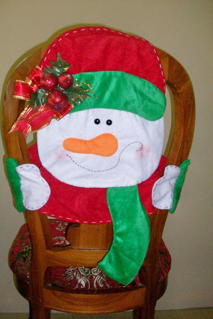 Christmas chair covers ideas - Forro Para Silla Chair Coverschristmas