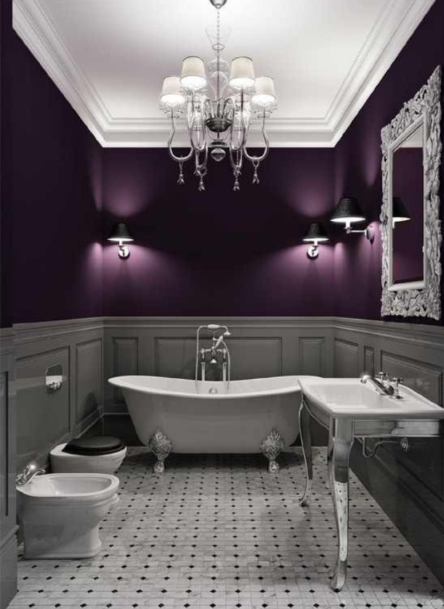 Plum And Silver Bathroom So Elegant Purple Bathrooms