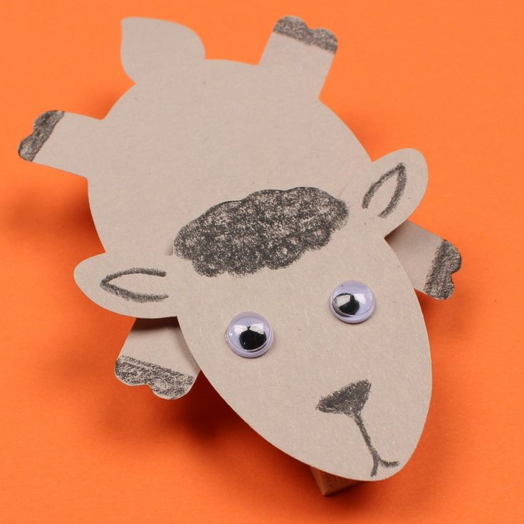 Clothespin Sheep Use AccuCuts Animals Farm Die To Create This Adorable Project