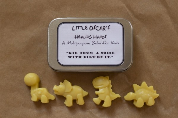 Little Oscar's Healing Hands $8 ~ Little Oscar's Healing Hands is our signature item. This is the bar that started it all. This is hands down the gentlest balm you will find for your child. This special mix was developed for our son's super sensitive skin. We tried everything commercially available and it either did nothing at all or made the problem worse.