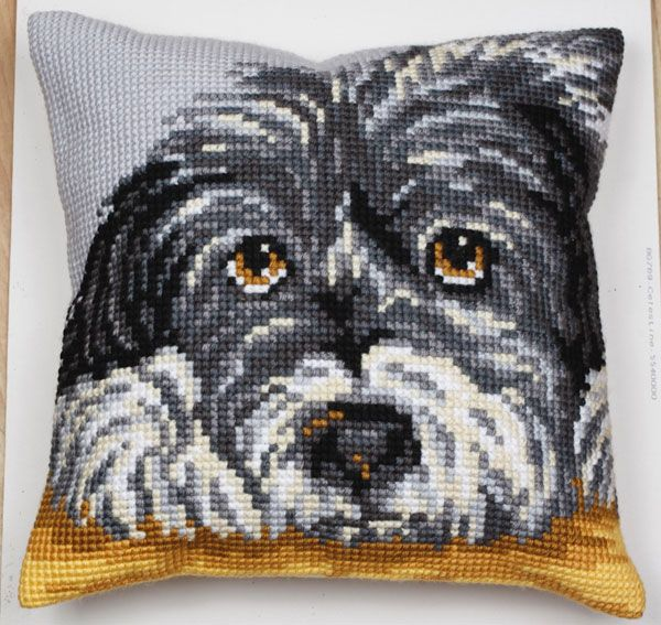 Collection d'Art:5.084 - Fidele - large count cross stitch cushion kit - On Sale Now - 40% Discount - Original Retail Price $40.00