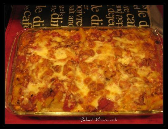Healthy Baked Mostaccioli