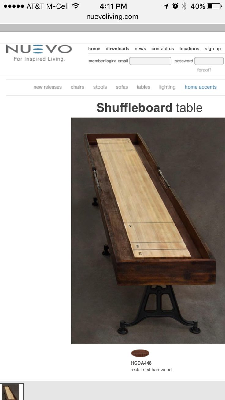 Buy Nuevo Reclaimed Harwood Shuffleboardtable From National Furniture  Supply At Lowest Price And Great Service.