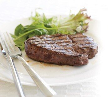 Beef steak with simple marinade