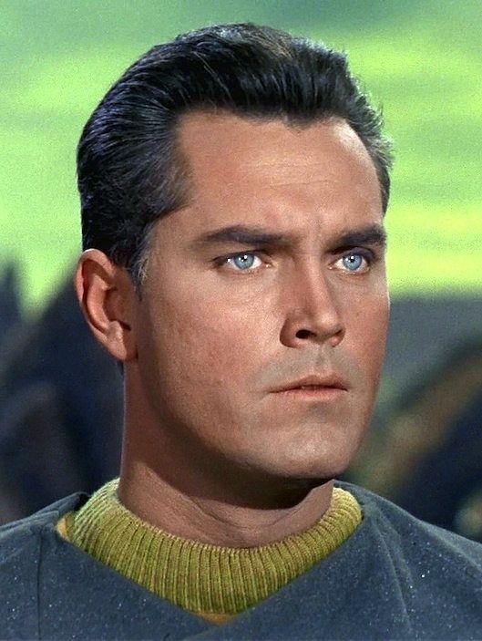 Publicity shot, from the 1960's television series, STAR TREK (original vintage image density corrected).