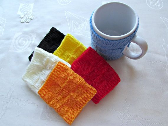 Coffee Cup Cozy Choose Your Color Big Mug Cozy by MyRainbowColors