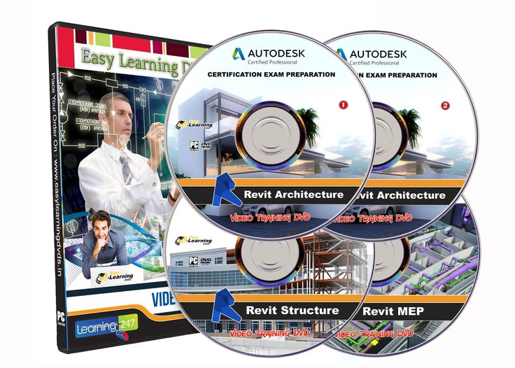 Revit Certified Professional Exam Video Training  Architecture, Structure, MEP  Course Tutorials on 4 DVDs