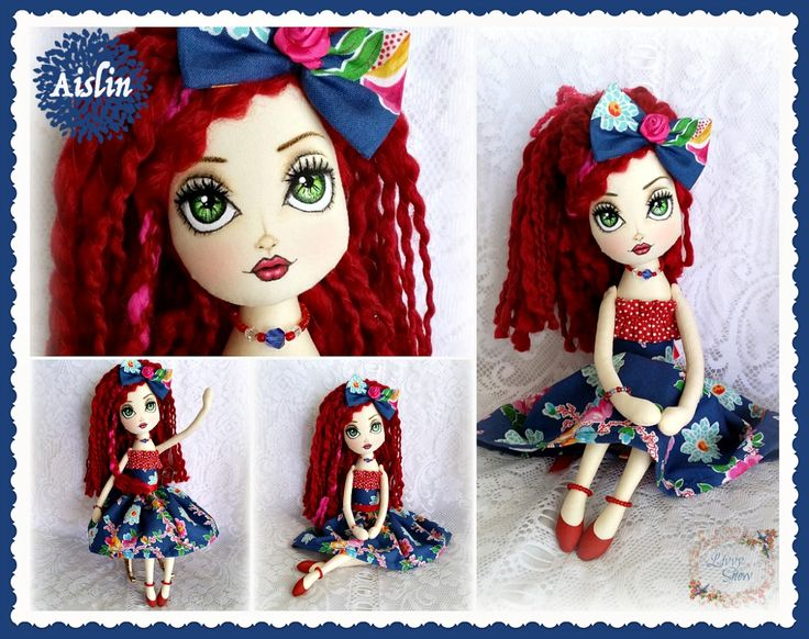 AISLIN Livvy Snow Cloth Doll www.facebook.com/1LivvySnow