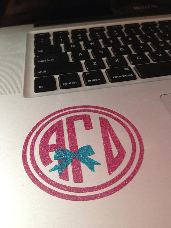 Alpha Gamma Delta Circle Monogram Decal With A Bow by BowsAndClips, $5.00