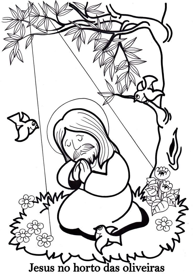 Jesus Coloring Sheets - in Spanish!