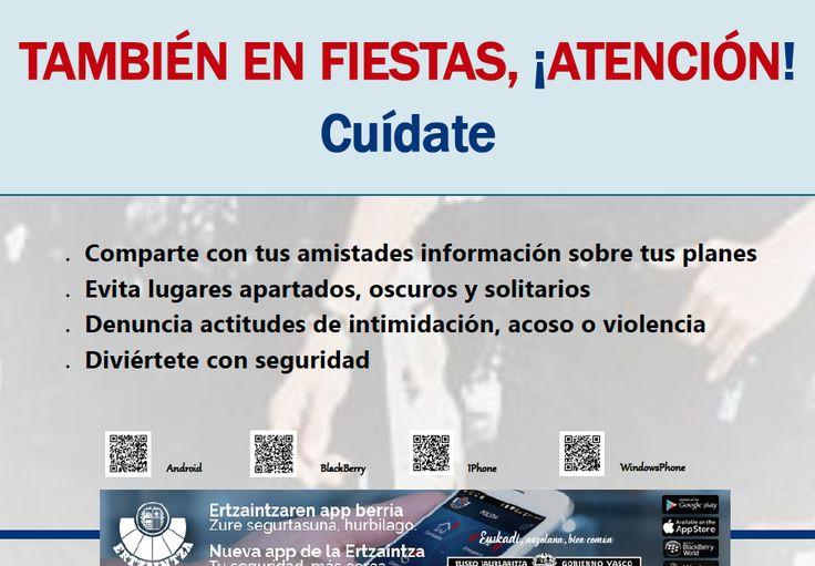 """La Ertzaintza difunde carteles de seguridad que piden """"evitar sitios apartados, oscuros y solitarios"""""""