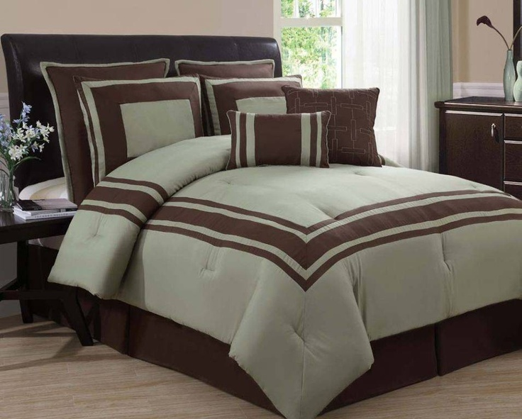 singapore sage and chocolate 8 piece comforter set bedroom comforter sets