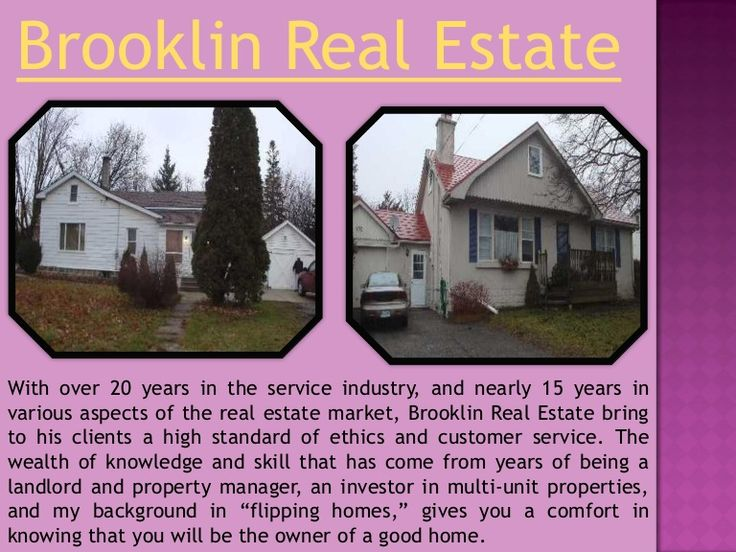 Brooklin Real Estate representatives are professionals critical in linking the customer with the homeowner. A a great deal of house owners, are interested in offering their Brooklin Homes For Sale. If you are just one of those individuals and you reside in or around the Brooklin area, you have a lot of options. The alternative most often chosen by a homeowner is to receive Brooklin Real Estate expert assistance. This assistance comes from a Brooklin Real Estate agent.