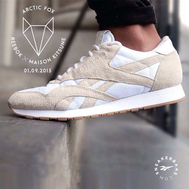 #reebok #maisonkitsuné #arcticfox #sneakerbaas #baasbovenbaas  Reebok X Maison Kitsuné 'Arctic Fox' -The classic England-based brand Reebok made one of the strongest collaborations with the French Maison Kitsuné. Only for the real connoisseurs!  Release 01.09.2015 00:01 AM !v