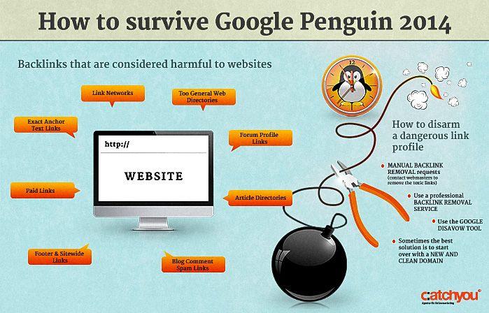 Wie man Google Penguin 2014 überlebt | Infografik