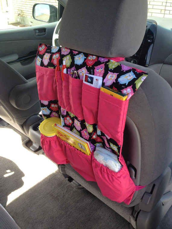 Avoid backseat disarray with an organizer complete with all of the essentials.