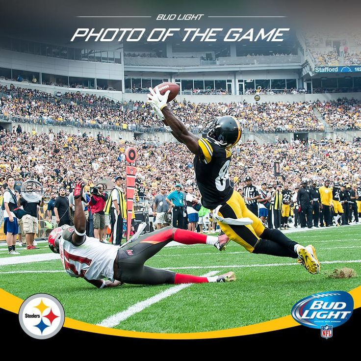 This week's @budlight Photo of the Game is @AntonioBrown84's diving touchdown catch! pic.twitter.com/fzpSrfe9Kr