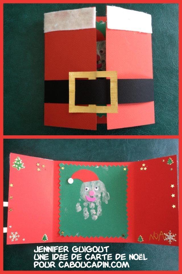 une idée de carte de Noël  #bricolage #noel #Noël #décoration #activité #maternelle #caboucadin #sapin #père  d'autres idées de Noël sur http://www.caboucadin.com/activites-de-noel.php