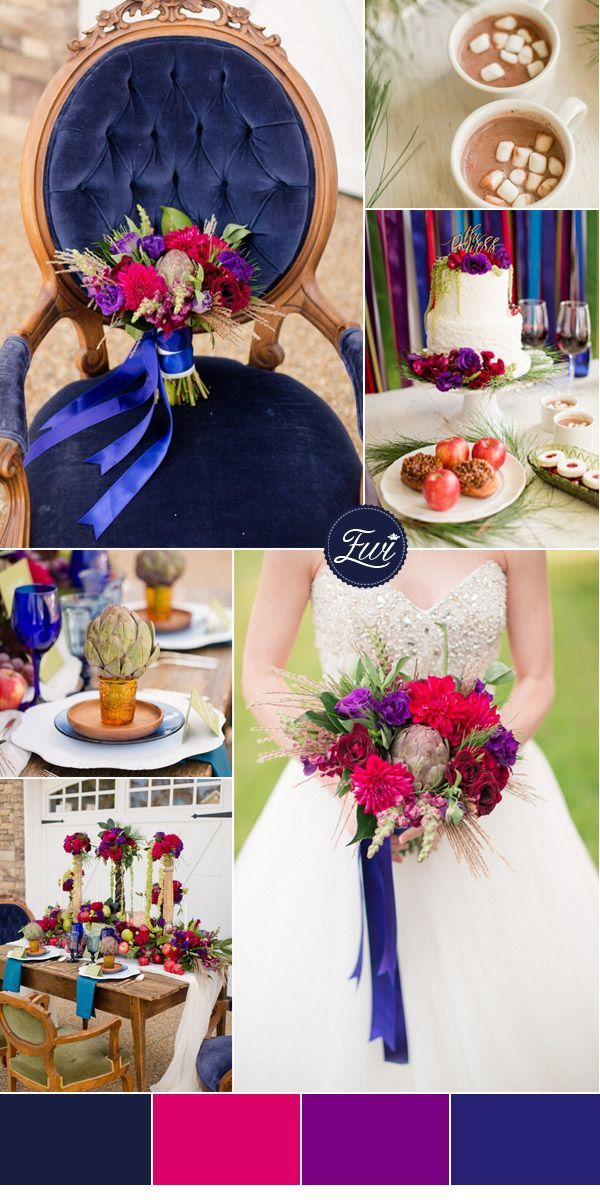 5 adorable jewel toned wedding color ideas for 2015 - Jewel tones color palette ...