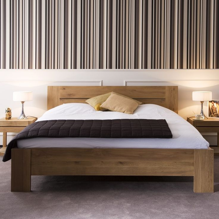 oak azur bett ethnicraft liefert betten in eiche f r die. Black Bedroom Furniture Sets. Home Design Ideas