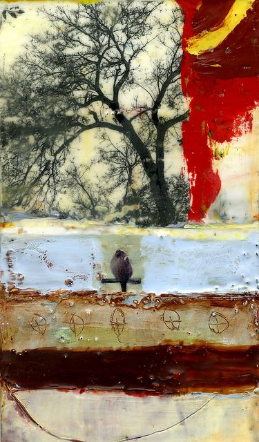 """""""The Art of Patience"""" by Bridgette Guerzon Mills -  encaustic mixed media 6x10 inches 2011 http://www.flickr.com/photos/7235969@N03/6674749589/"""