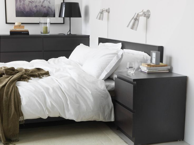 ikea malm chest of 2 drawers white stained oak veneer can also be used as a bedside tablereal wood veneer will make this chest of drawers age bedroom furniture sets ikea