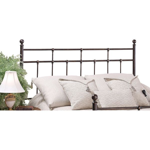 Hillsdale Providence Headboard ($185) ❤ liked on Polyvore featuring home, furniture, beds, brown, brown twin bed, king head board, queen headboard, king headboard and traditional furniture