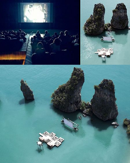 Archipelago Cinema: The World's First Floating Movie Theater