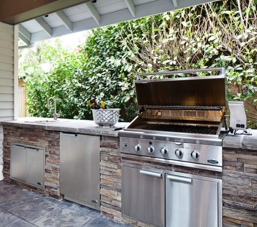 41 best chido images on pinterest kitchens decks and for Simple outdoor kitchen designs
