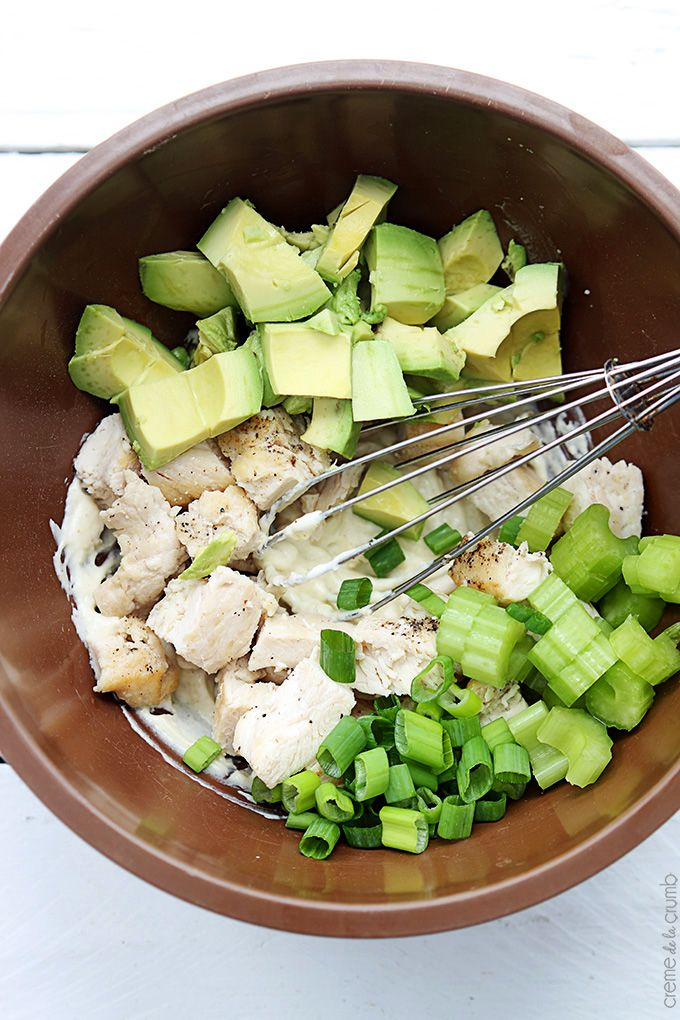 Skinny Chicken Avocado Salad Recipe - Healthy and Easy Lunch or Dinner