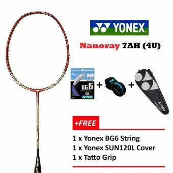Yonex Voltric Nanoray 7AH (4U) RedFree BG6GripCover Badminton Racket Package