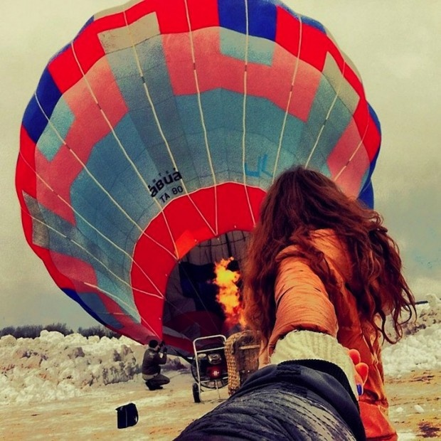 Best FollowMe Images On Pinterest - Guy takes awesome photos girlfriend tugs along