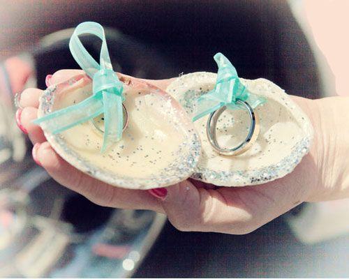 Click Pic for 26 DIY Beach Wedding Ideas | Tie your Wedding Rings into Seashells | Beach Theme Wedding Decorations