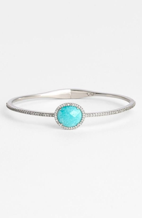 turquoise delicate bangle