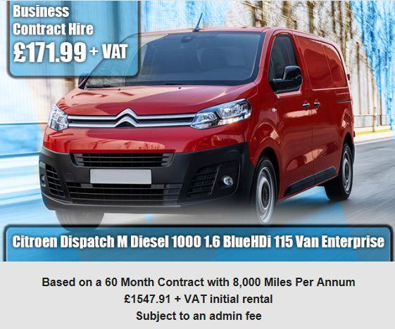 Citroen Dispatch M Diesel 1000 1.6 BlueHDi 115 Van Enterprise