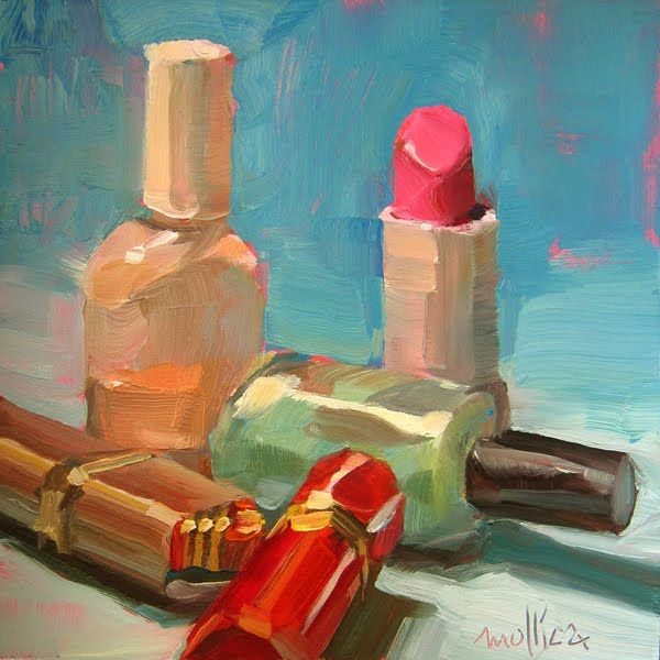 Patti Mollica-shows you can make a beautiful painting from nearly anything.