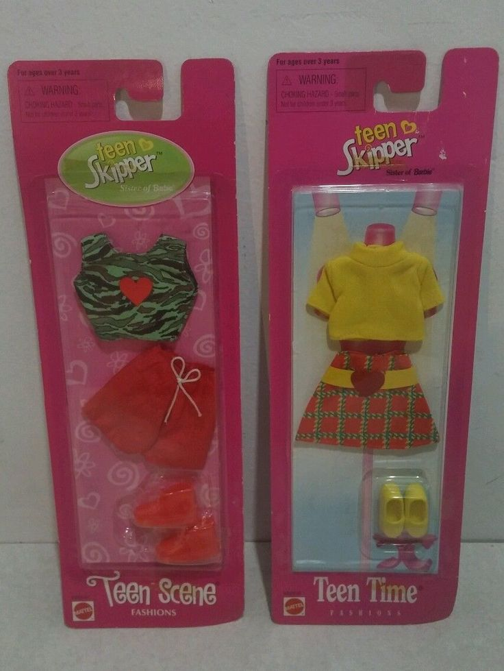 New Mattel Fashion Avenue Barbie Skipper Teen 2 Piece Set Teen Scene Teen Time…