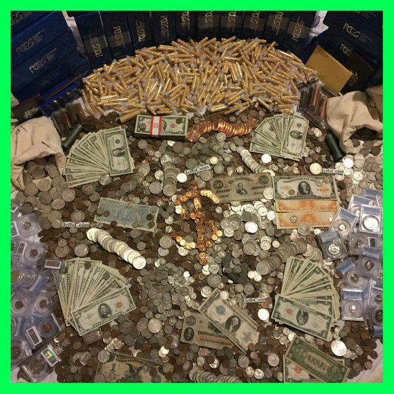 fa4519a57d6fd Estate Sale Old US Coins ~ Gold .999 Silver Bullion Collection Bars ...